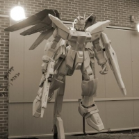 Gundam Robot<br/>h 3500 x 2500 x 1200 mm / urethane, Styrofoam, mixed media / 2012