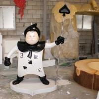Spade Character<br/>h 1600 x 800 x 1400 mm / urethane, Styrofoam, Steel / 2011