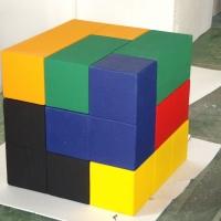 Block Puzzle 1<br/>h 1000 x 1000 x 1000 mm / (each) urethane, Styrofoam / 2009