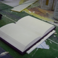 Book<br/>h 270 x 1600 x 1400 mm / urethane, Styrofoam, steel / 2012