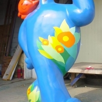 Pusan Mascot<br/>h 1700 x 1000 x 1200 mm / urethane, Styrofoam / 2014