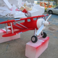 Air Plane<br/>h 700 x 1800 x 1700 mm / urethane, Styrofoam, steel, mixed media / 2012
