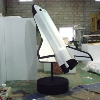 Rocket<br/>h 2200 x 1600 x 1500 mm / urethane, Styrofoam, steel, mixed media / 2012