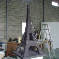 Eiffel Tower<br/>h 2200 x 1500 x 1500 mm / urethane, Styrofoam, steel / 2012