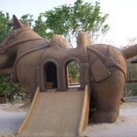 Horse Slide<br/>h 3000 x 4800 x 2000 mm / fiber reinforced plastics, steel / 2011