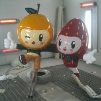 Fruits Mascot<br/>h 1600 x 180 x 800 mm (set) / fiber reinforced plastics, steel / 2013