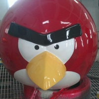 Angry Bird 1<br/>h 1400 x 1250 x 1000 mm (set) / fiber reinforced plastics, steel / 2013