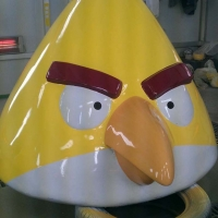 Angry Bird 2<br/>h 1400 x 1250 x 1000 mm (set) / fiber reinforced plastics, steel / 2013
