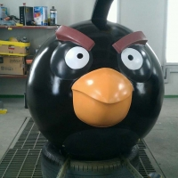 Angry Bird 3<br/>h 1400 x 1250 x 1000 mm (set) / fiber reinforced plastics, steel / 2013