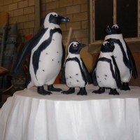 Penguin 1<br/>h 900 x 450 x 1100 mm (set) / fiber reinforced plastics, steel / 2012