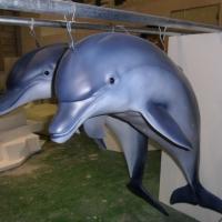 Dolphin<br/>h 1200 x 1200 x 600 mm (each) / fiber reinforced plastics, steel / 2012